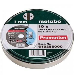 ΔΙΣΚΟΙ ΚΟΠΗΣ INOX Σετ 10 τμχ. METABO 115 x 1.00 x 22.23 mm