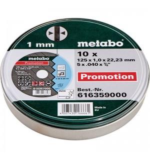 ΔΙΣΚΟΙ ΚΟΠΗΣ INOX Σετ 10 τμχ. METABO 125 x 1.00 x 22.23 mm